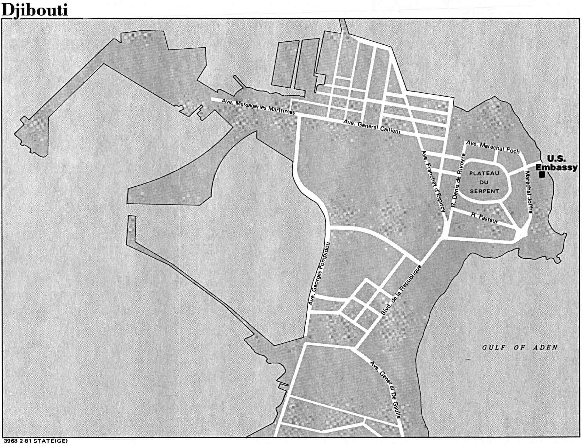 Mapa de la Ciudad de Yibuti, Yibuti
