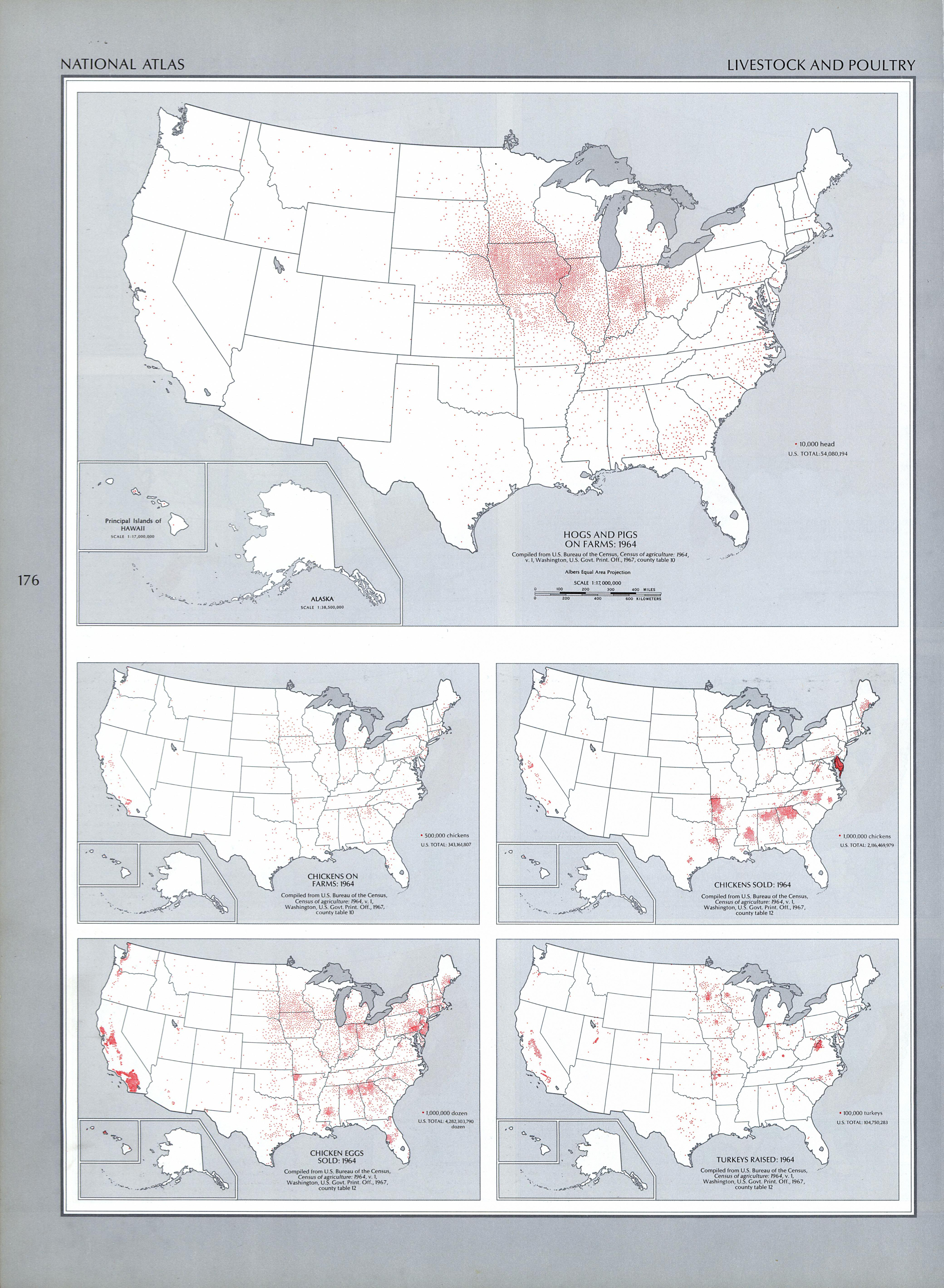 United States Livestock and Poultry Map