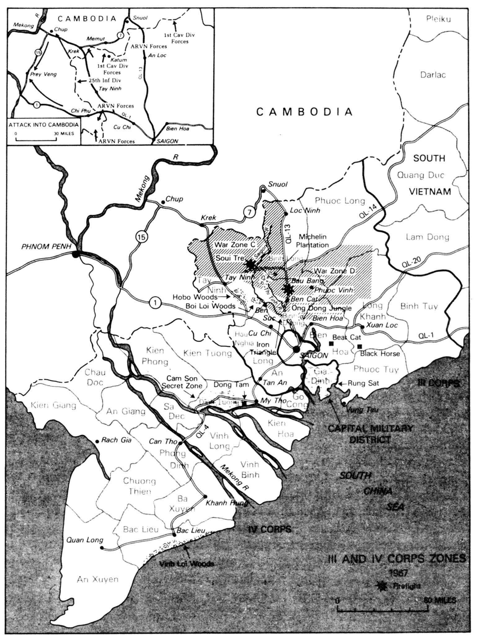 Cambodia War Map 1967
