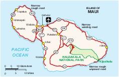 Maui Island Map, Hawaii, United States