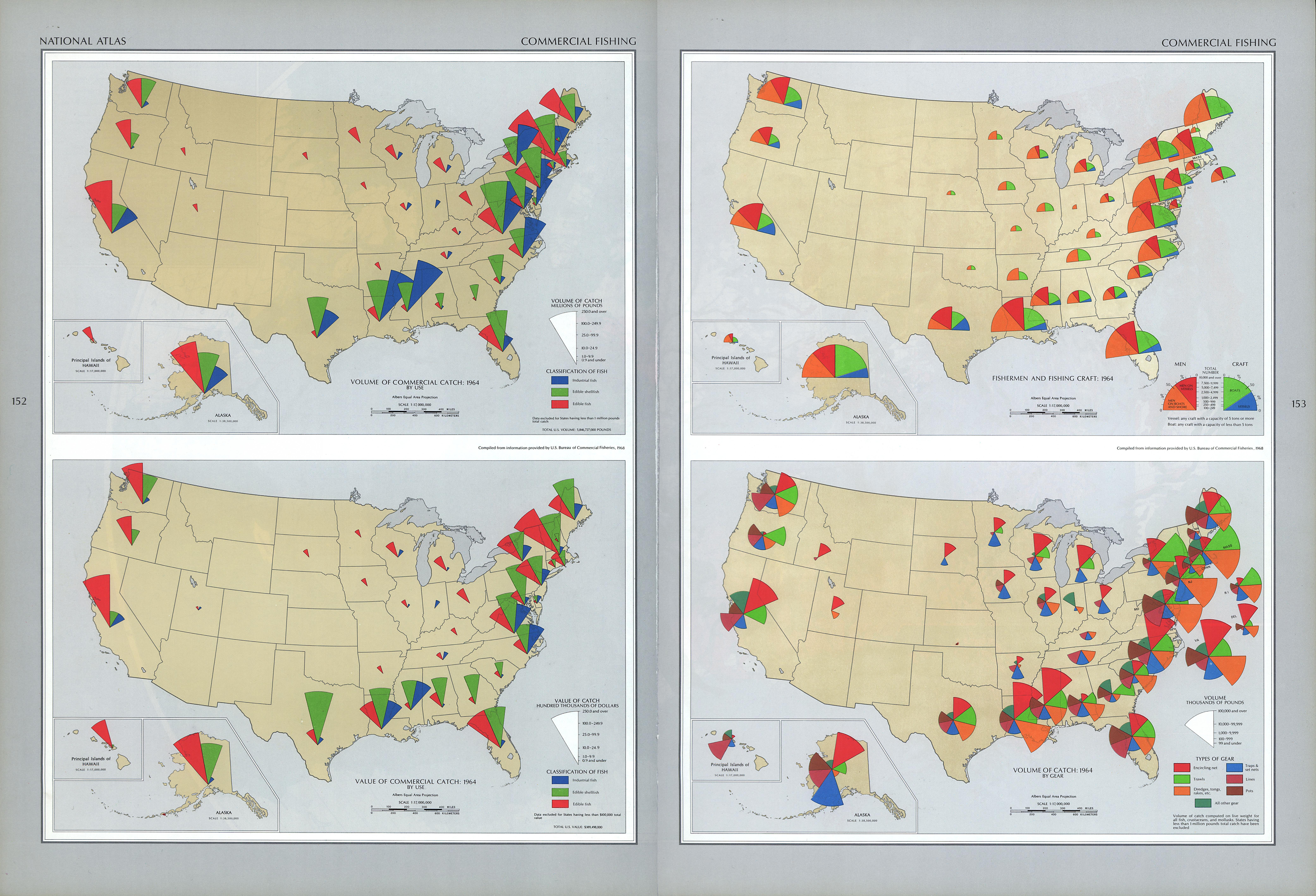 Mapa de la Pesca Comercial en Estados Unidos
