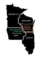 Area Map of Effigy Mounds National Monument, Iowa, United States