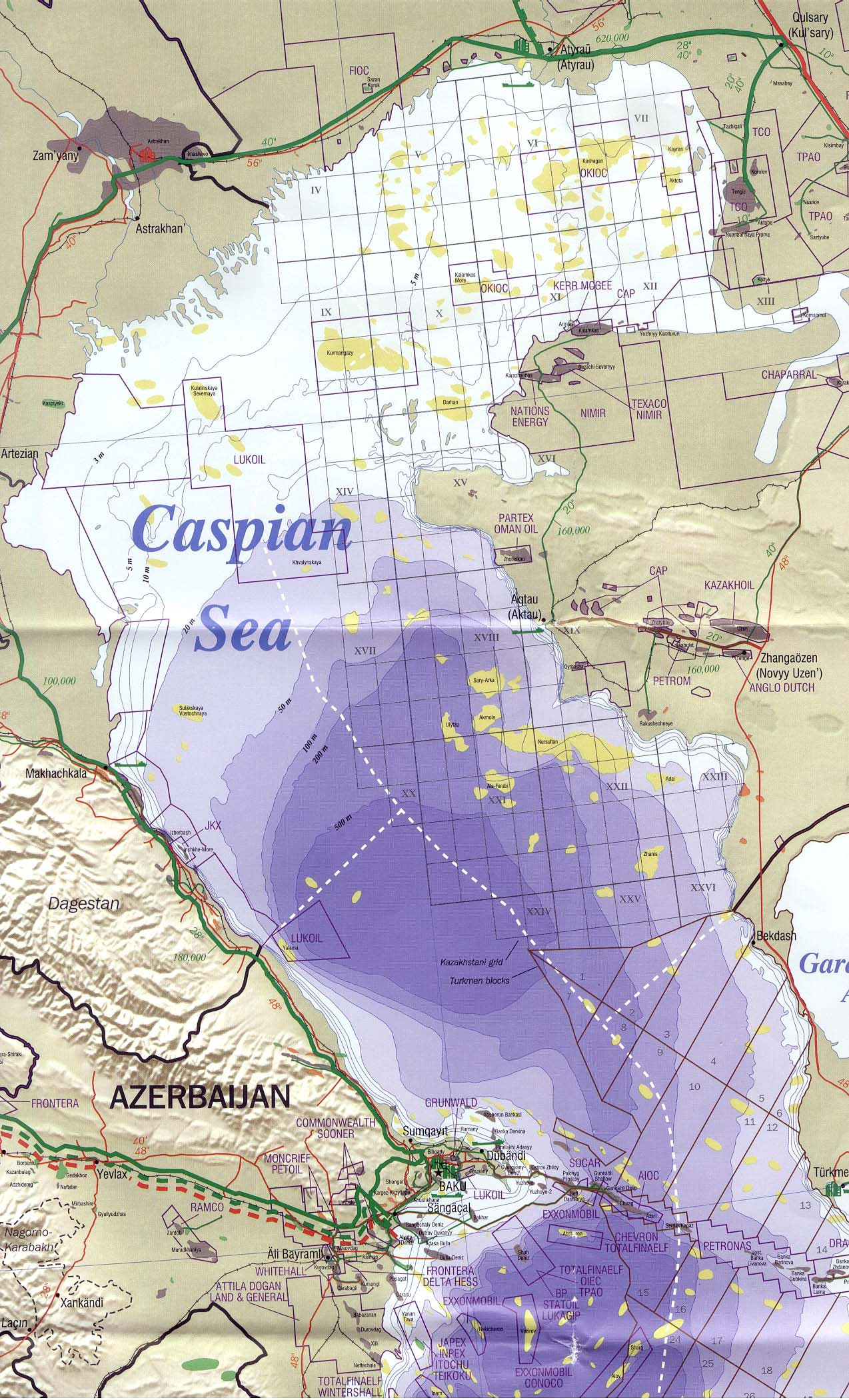 Northern Caspian Sea Region Map