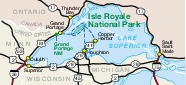 Isle Royale National Park Area Map, Michigan, United States