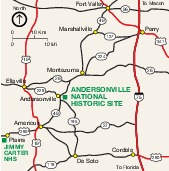 Andersonville National Historic Site Area Map, Georgia, United States