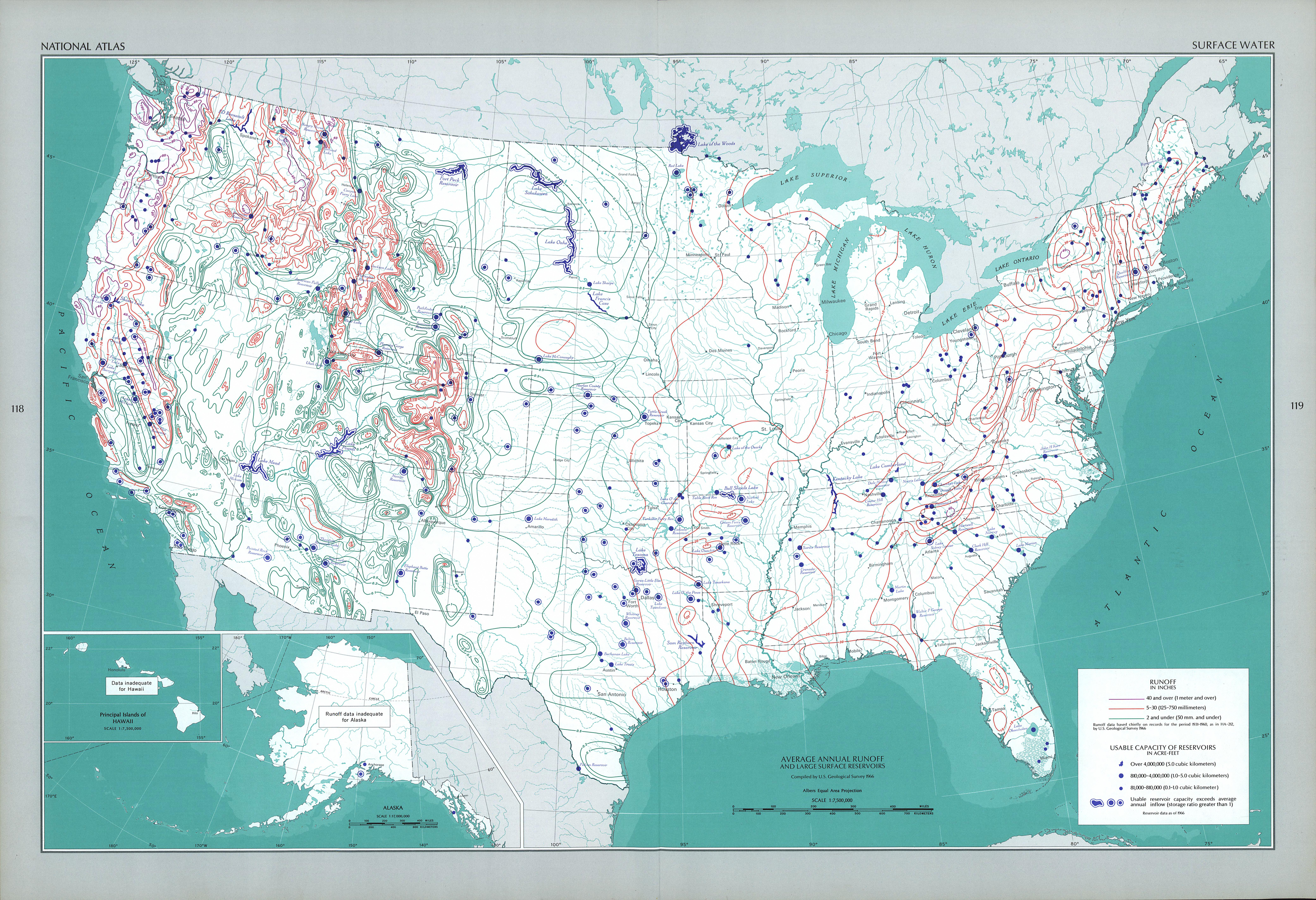 United States Surface Water Map