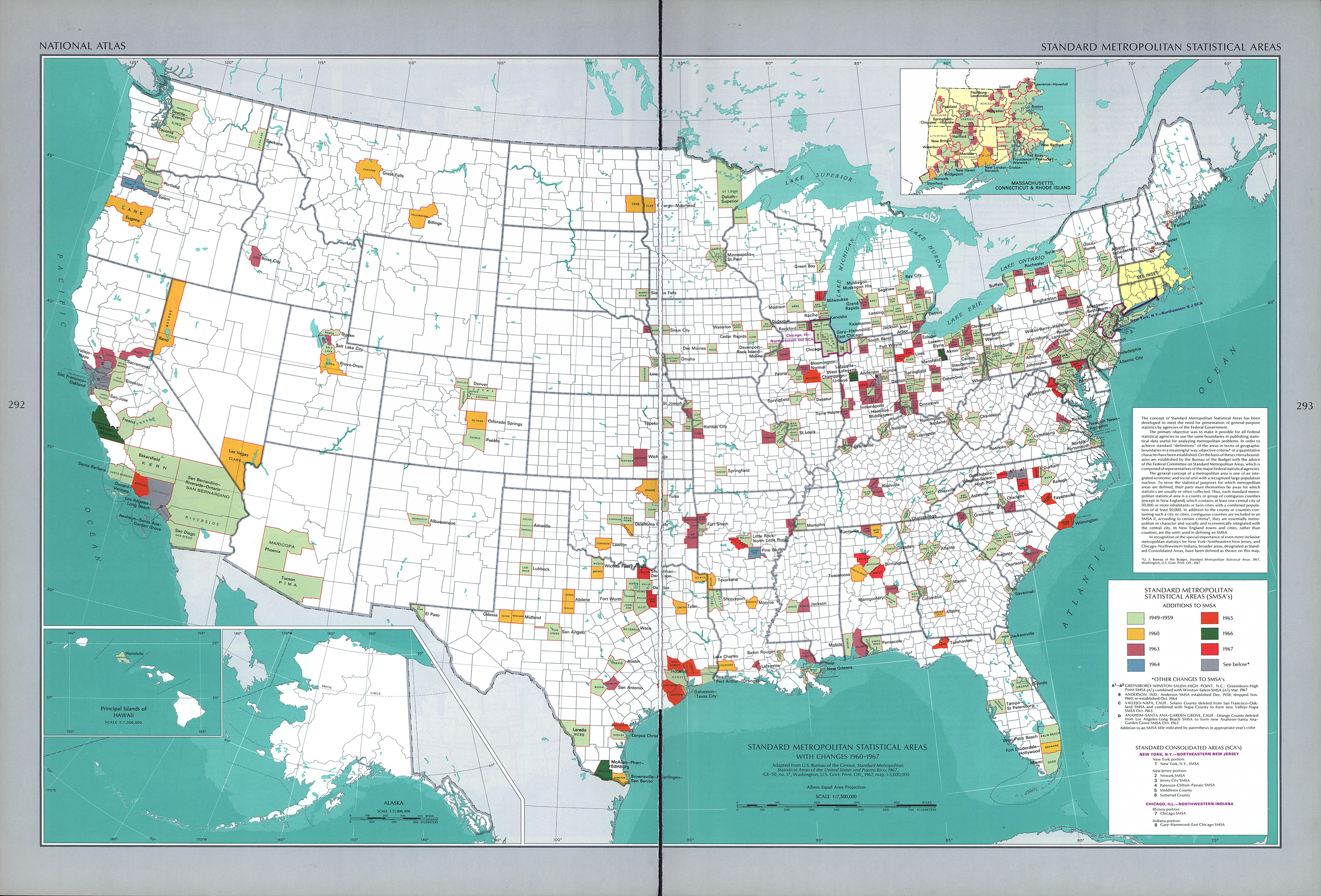 United States Standard Metropolitan Statistical Areas Map