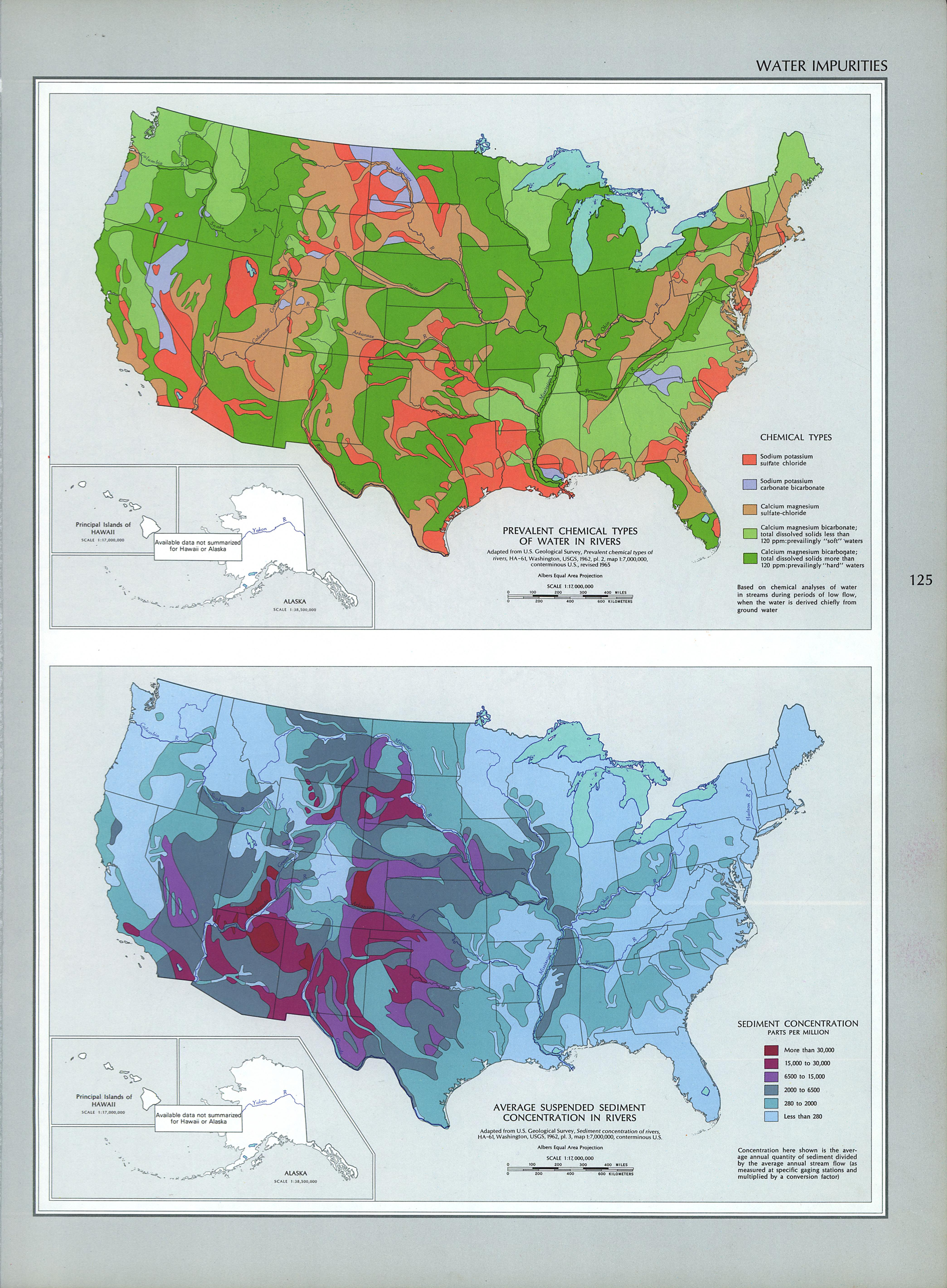 United States Water Impurities Map