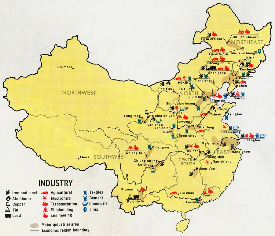 China Industry Map