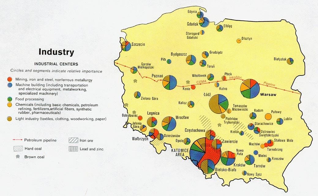 Mapa de las Industrias de Polonia
