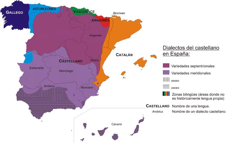 Mapa de lenguas en España 2006