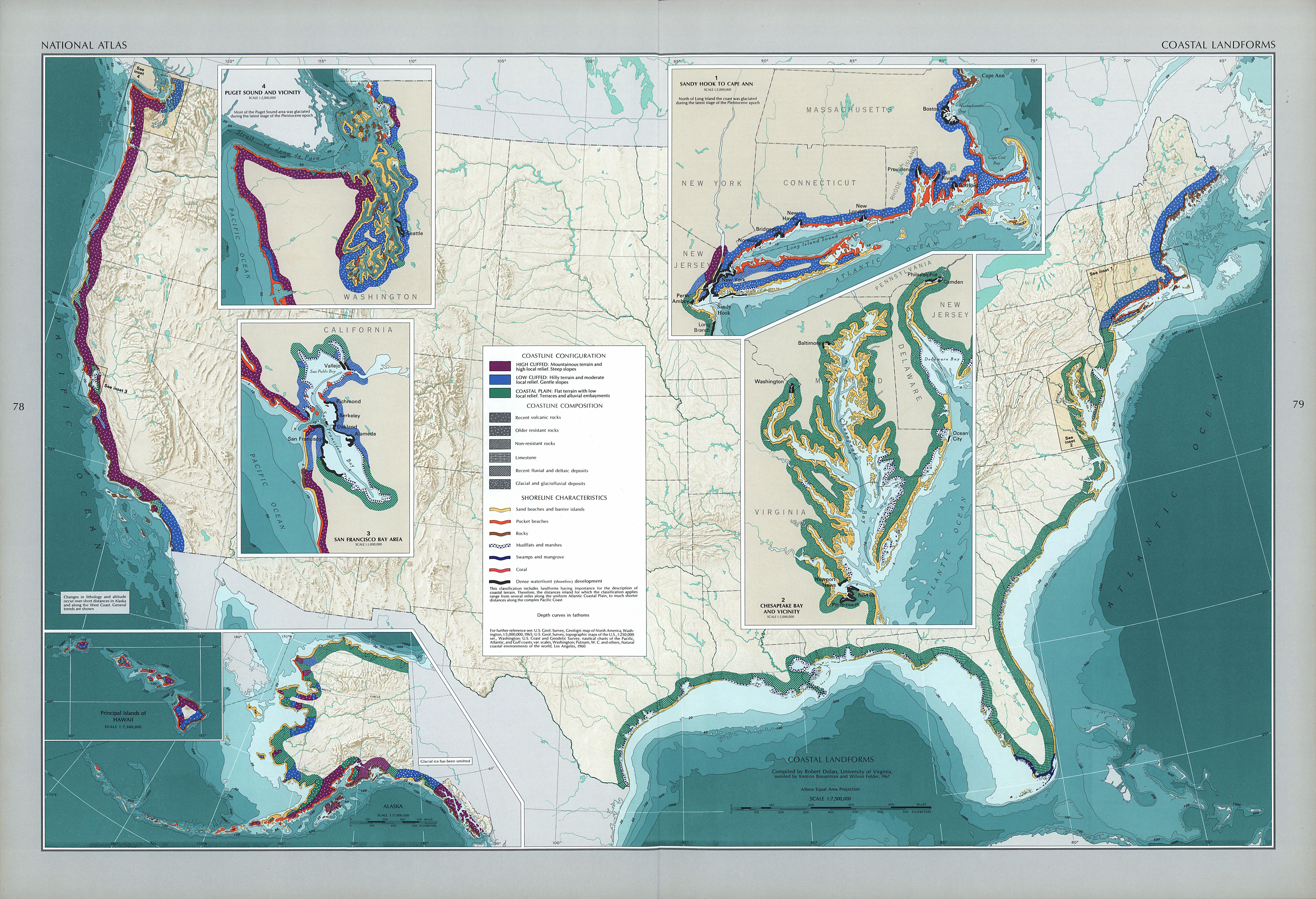 United States Coastal Landforms Map