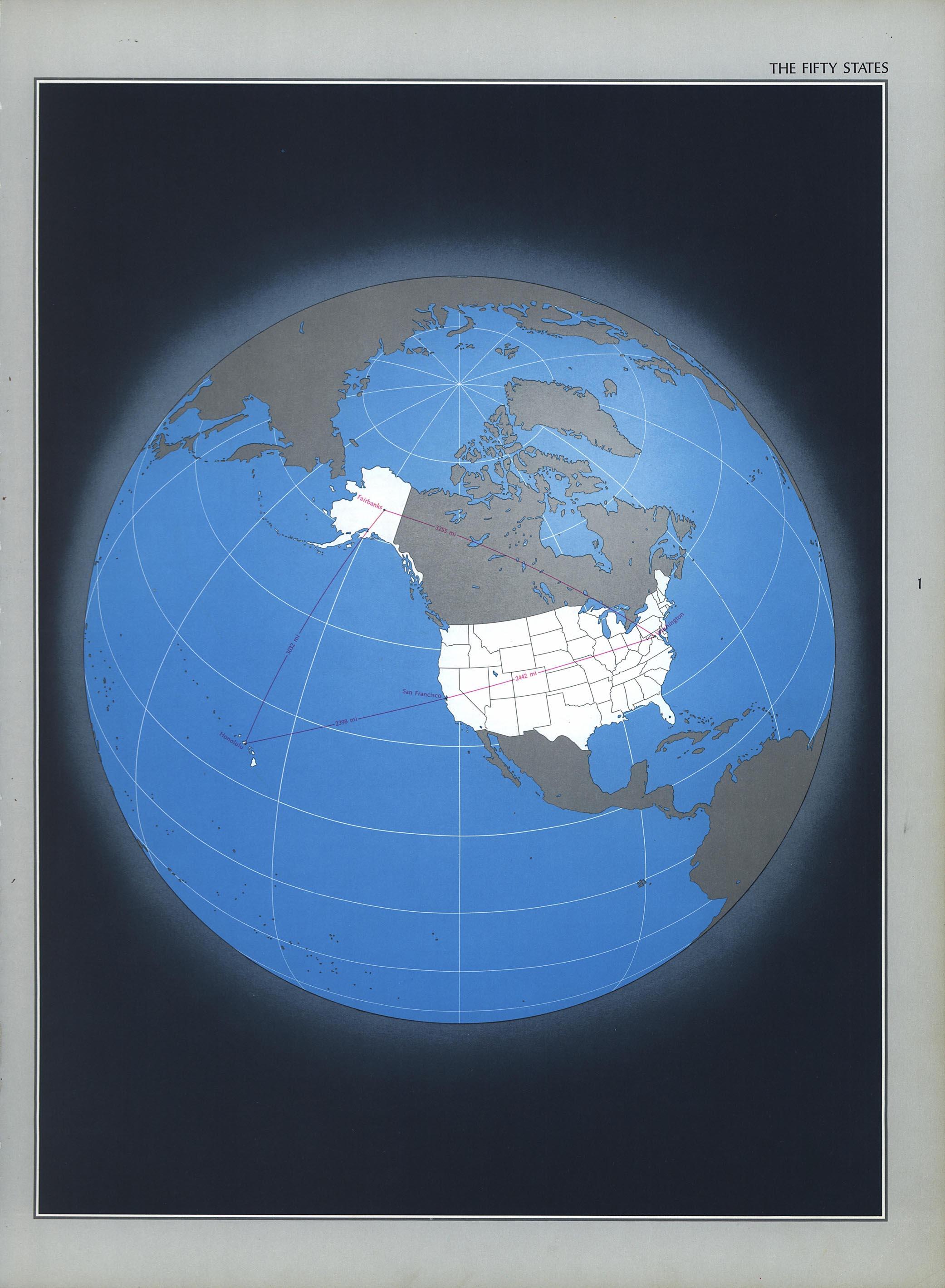 Mapa de los Cincuenta Estados, Estados Unidos