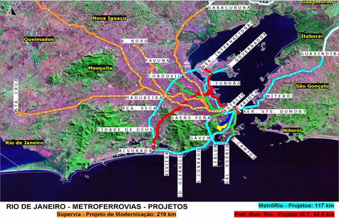 Rio de Janeiro's Public Transportation System Modernization Project Map, Brazil