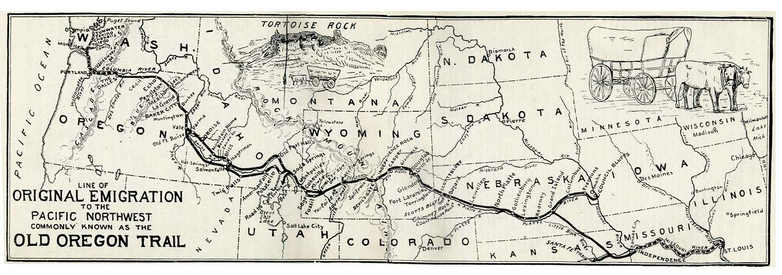 Mapa del Camino de Oregón