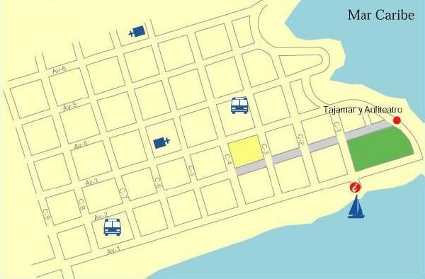 Mapa del Centro de Limón, Costa Rica