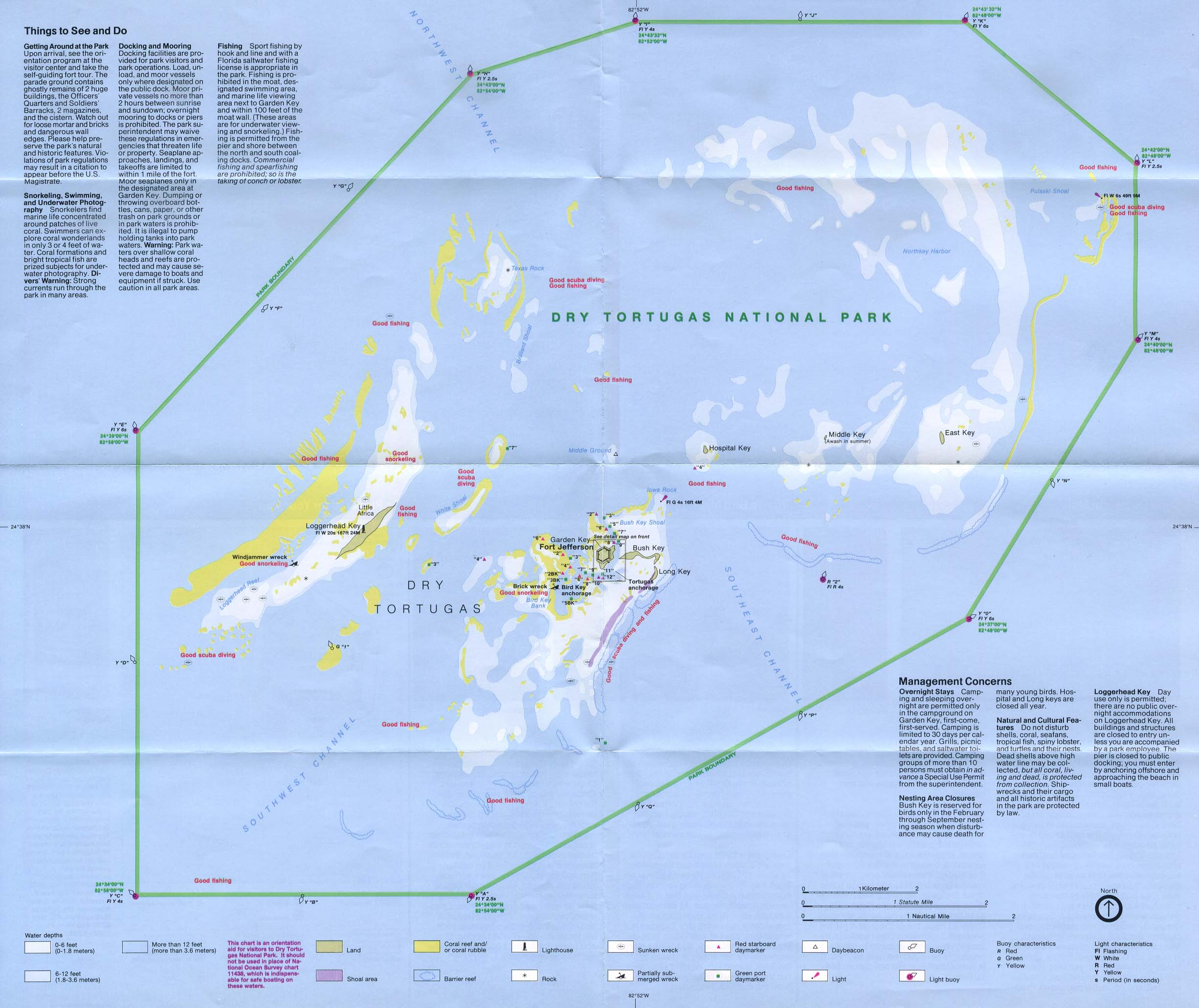 Dry Tortugas National Park Map, Florida, United States