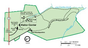 Park Map of Booker T. Washington National Monument, Virginia, United States