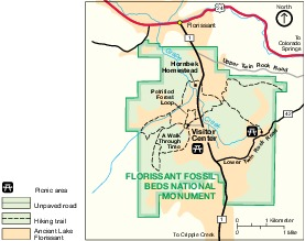 Maps of Park Map of Florissant Fossil Beds National Monument ...
