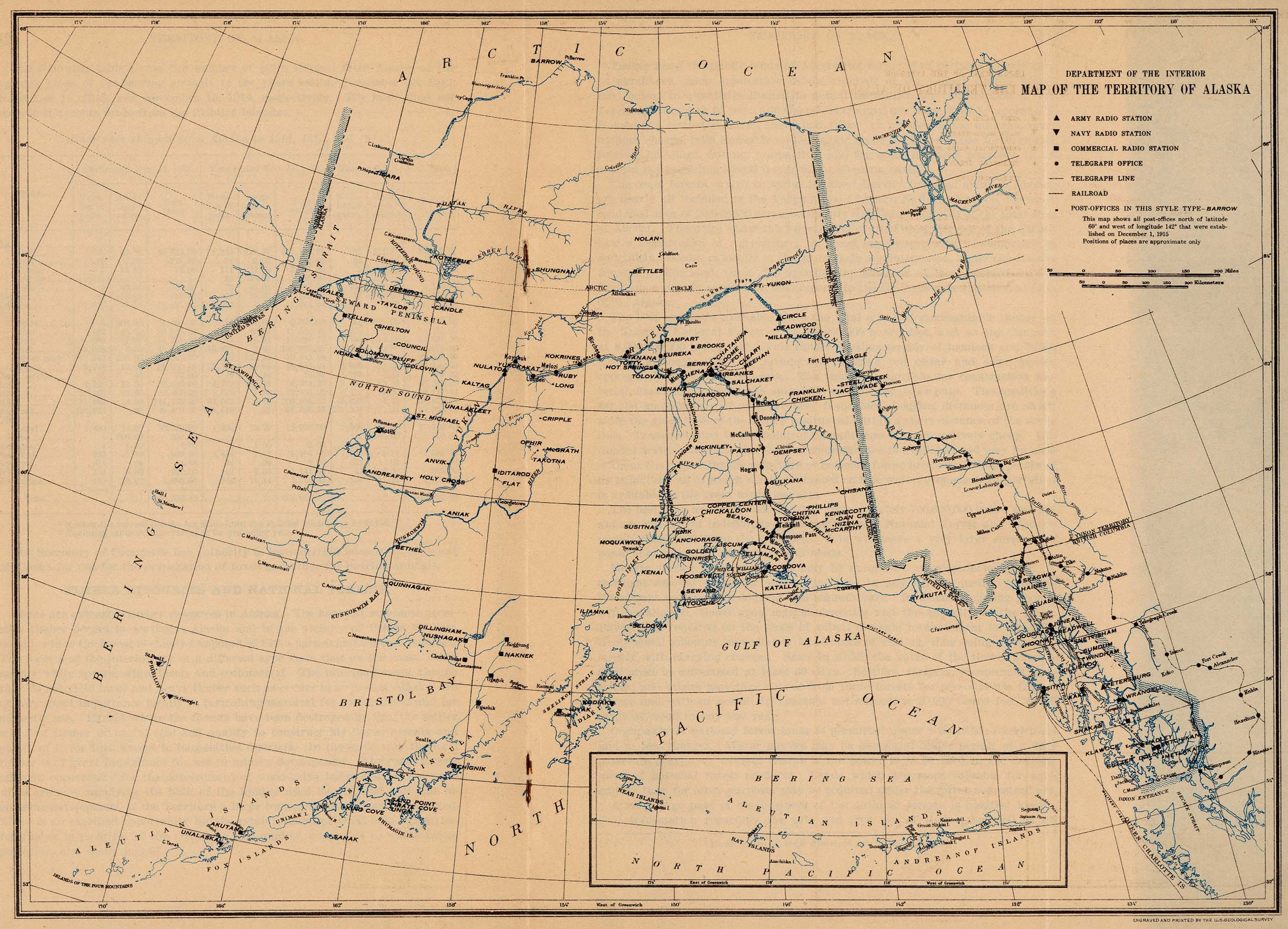 Map of the Territory of Alaska 1915