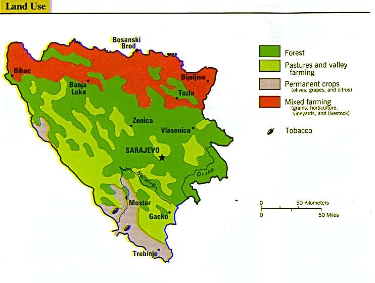 Bosnia and Herzegovina Land Use Map