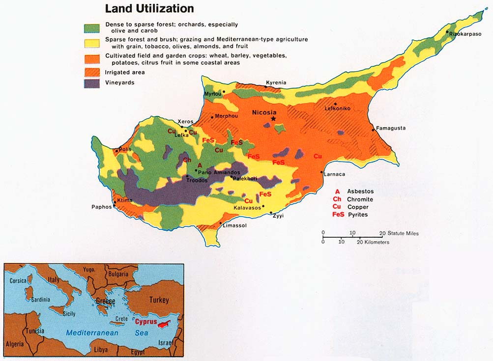 Cyprus Land Utilization Map