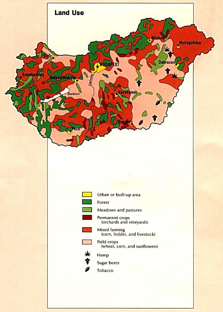 Hungary Land Use Map