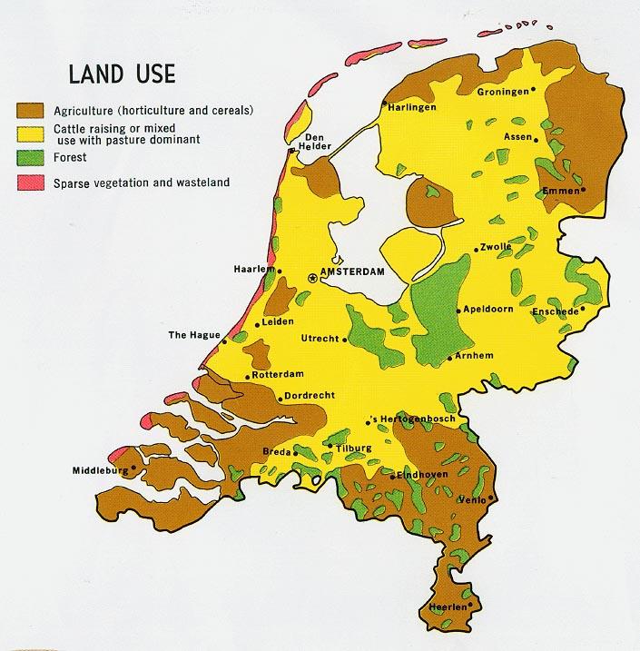 Mapa del Uso de la Tierra de los Países Bajos