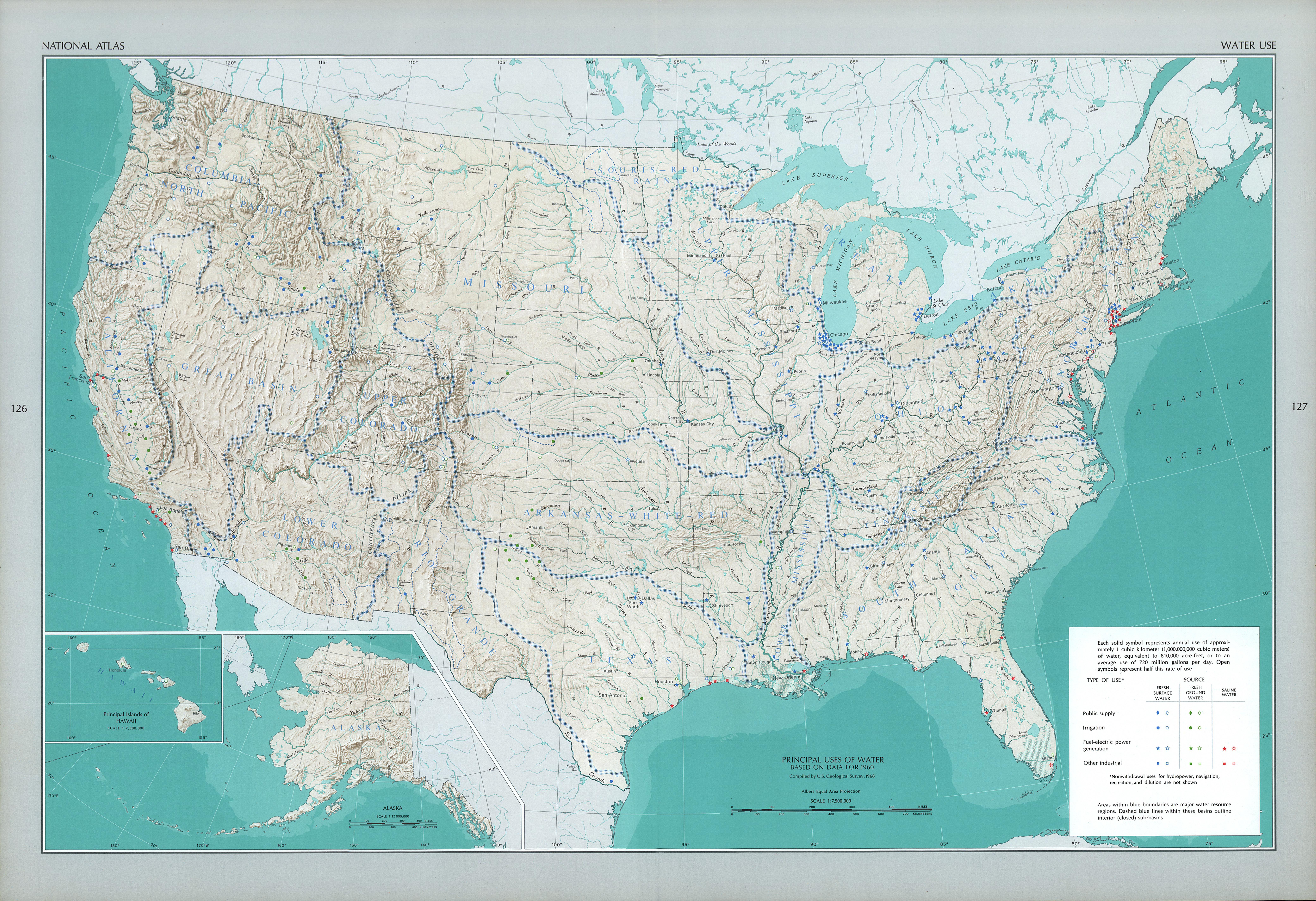 Mapa del Uso del Agua en Estados Unidos