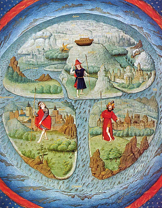 Historical flat Earth map