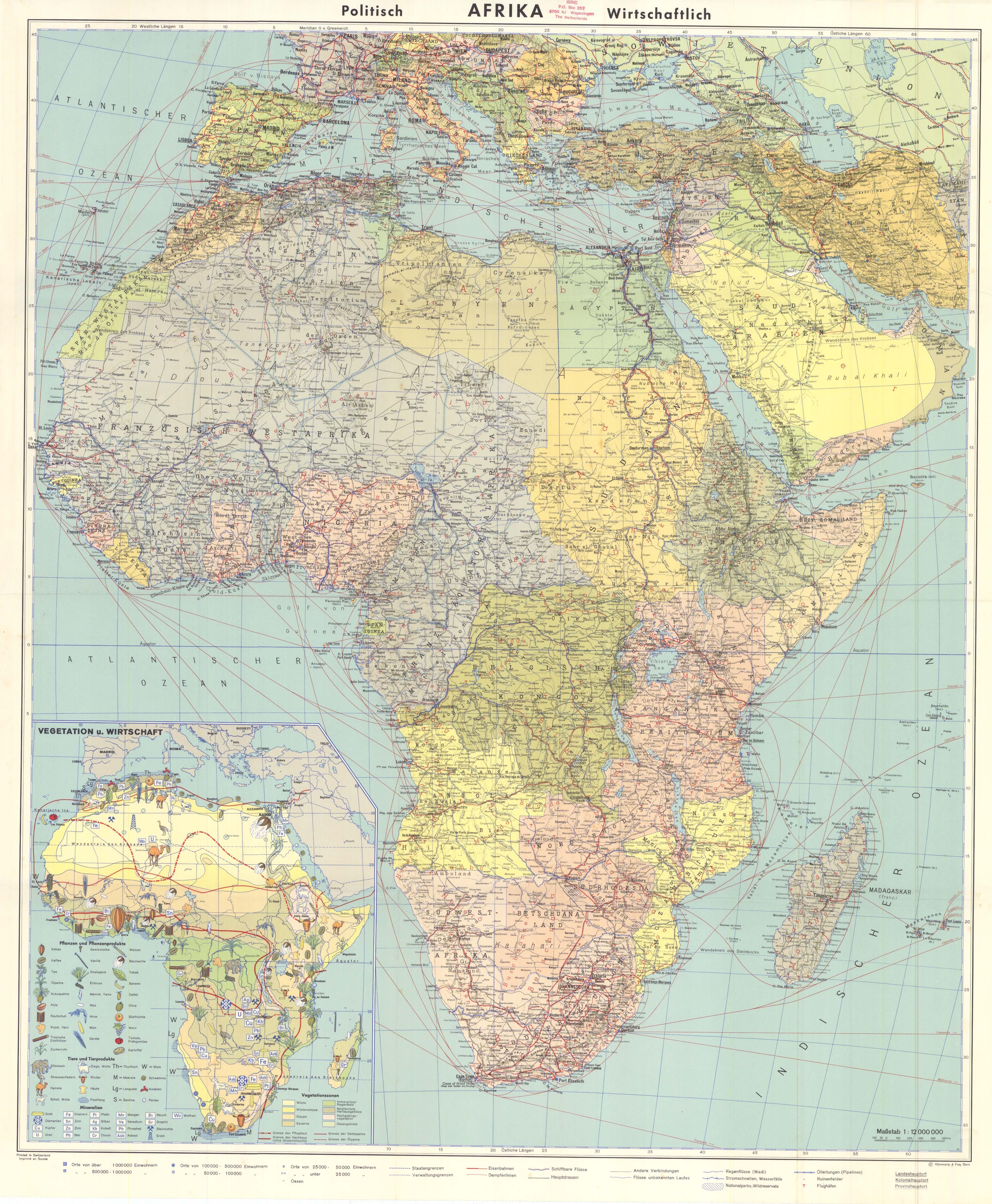 Mapa político y económico de África