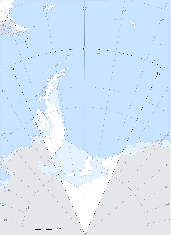 Mapa sin descripción de la Antártida Argentina 2009