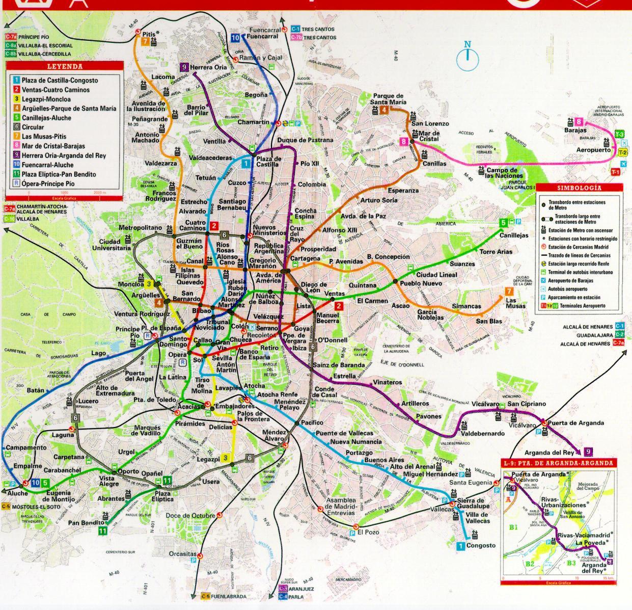 Metro de Madrid, España