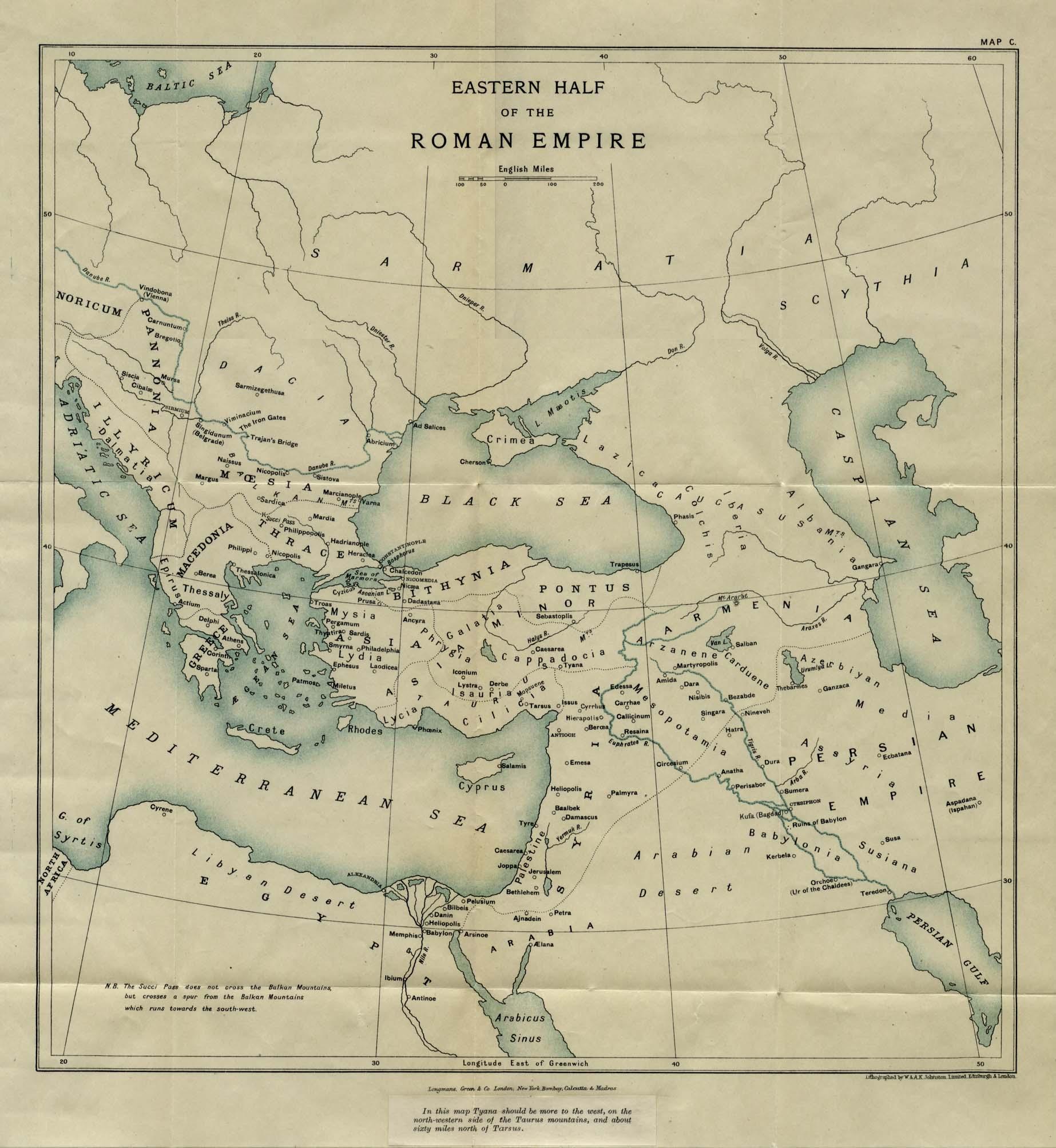 Mitad Oriental del Imperio Romano