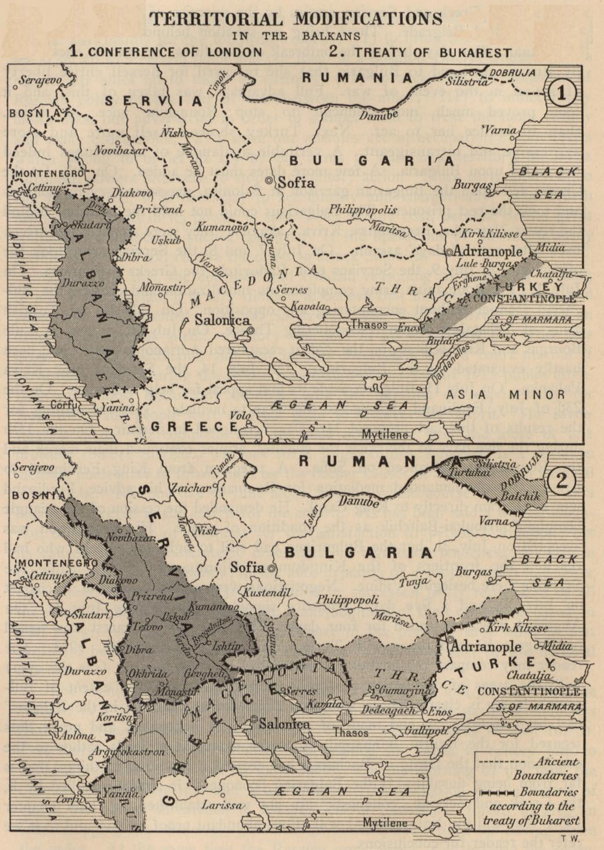 Modificaciones Territoriales en los Balcanes 1913
