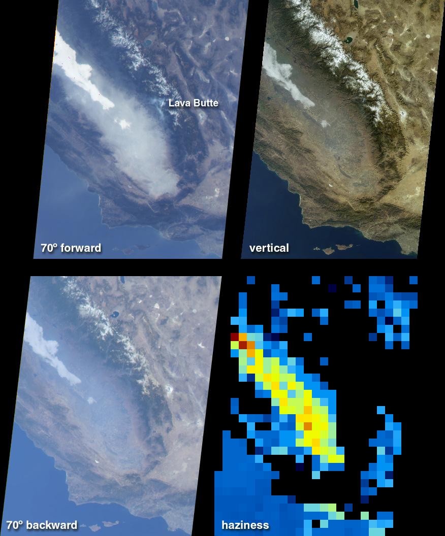 Niebla y calima en el Valle de San Joaquín en California