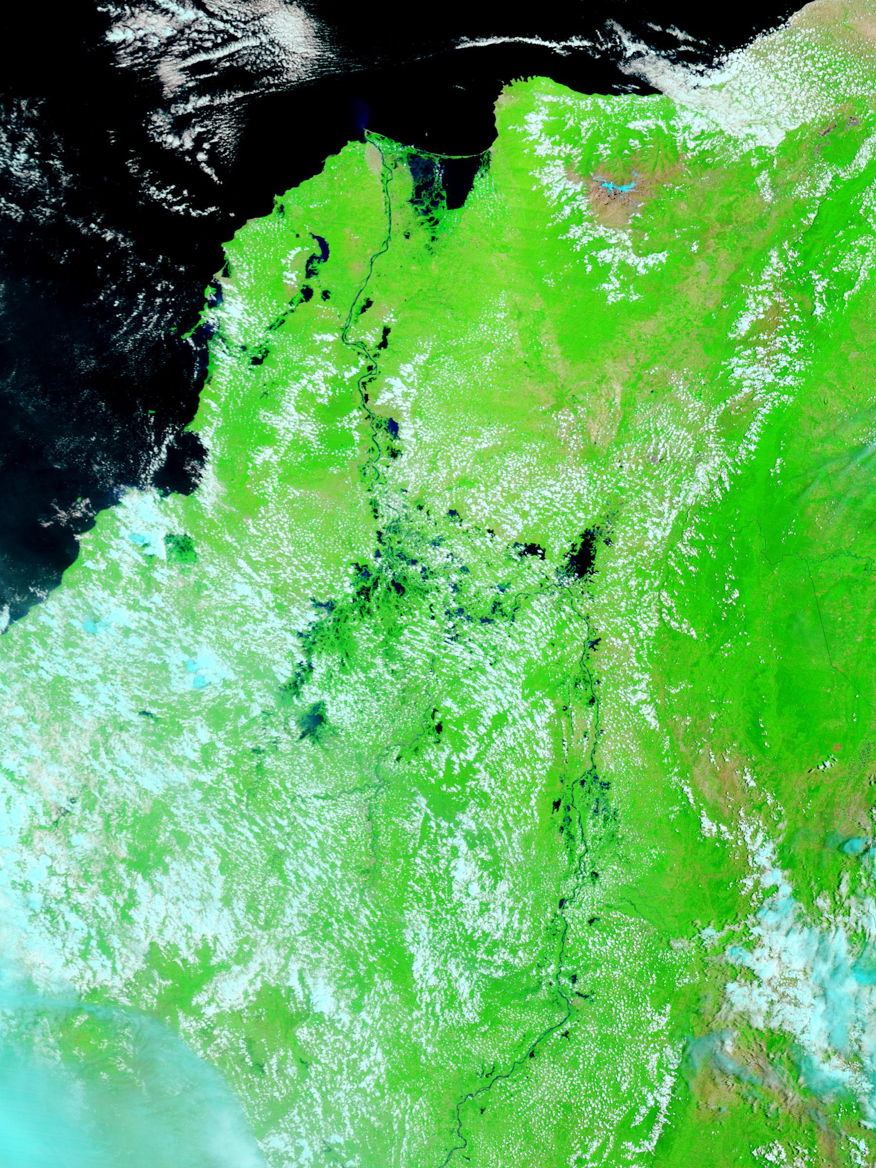 Norte de Colombia (antes de las inundaciones, falso color)
