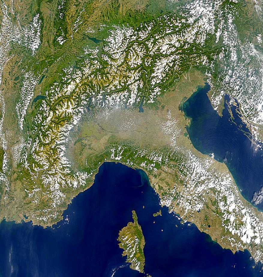 Norte de Italia y los Alpes