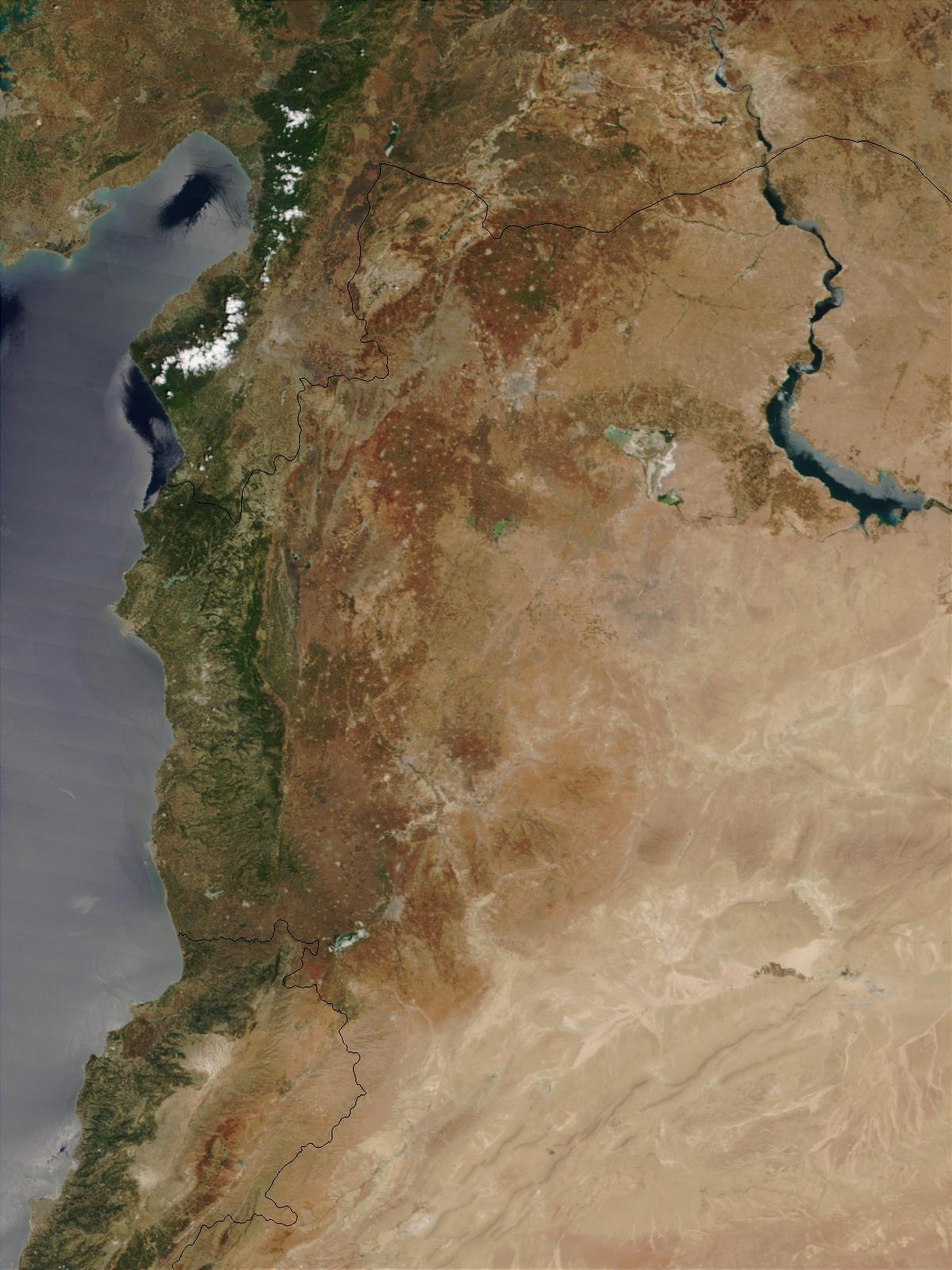 Norte de Syria (antes de desplomarse la presa de Zeyzoun)