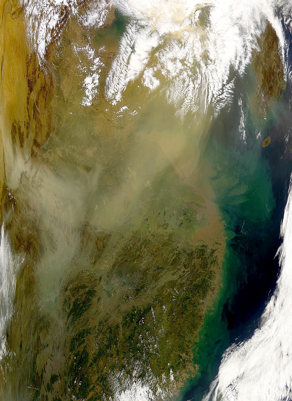 Nube de polvo chino
