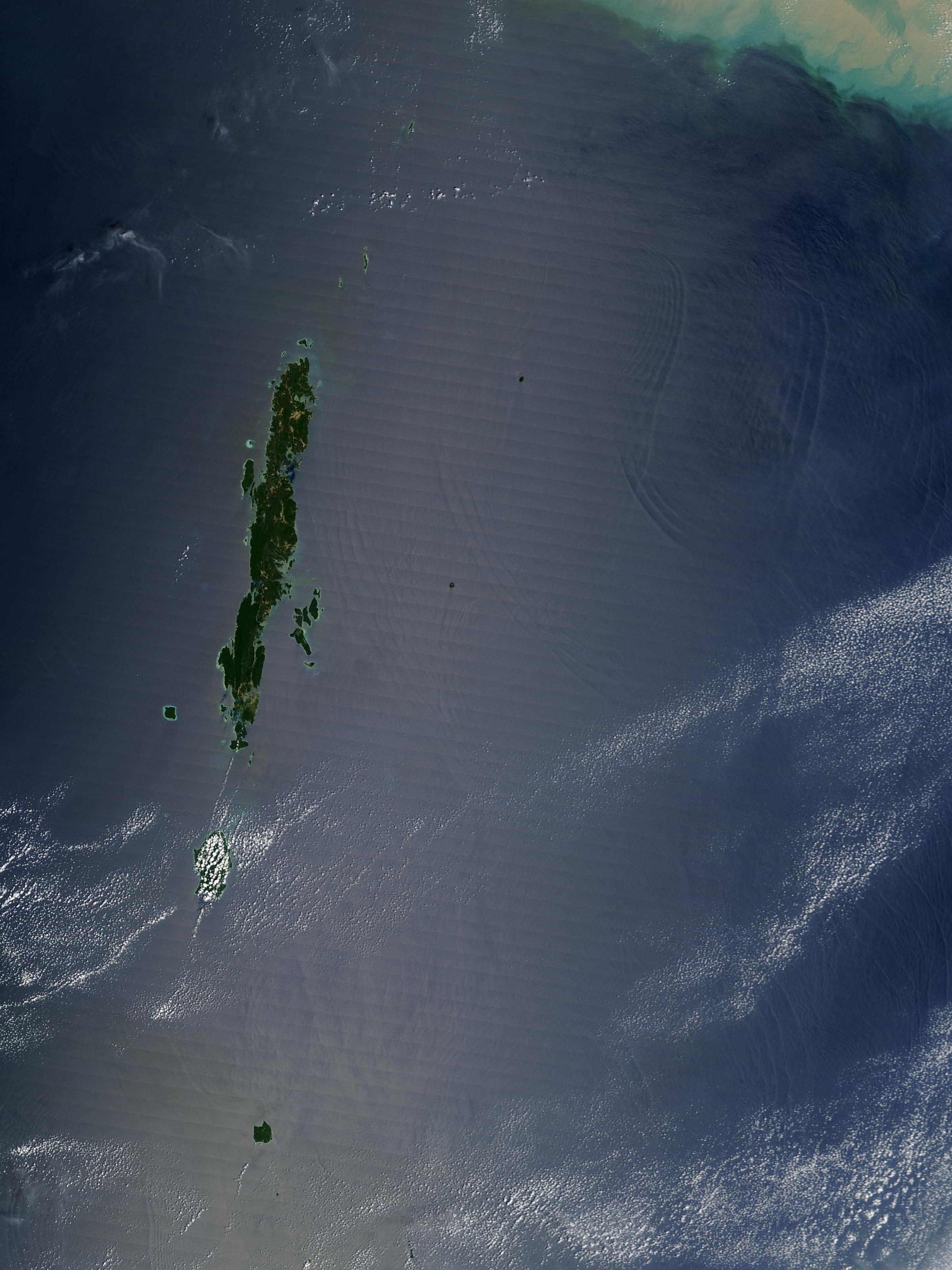 Olas internas en el Mar de Andamán