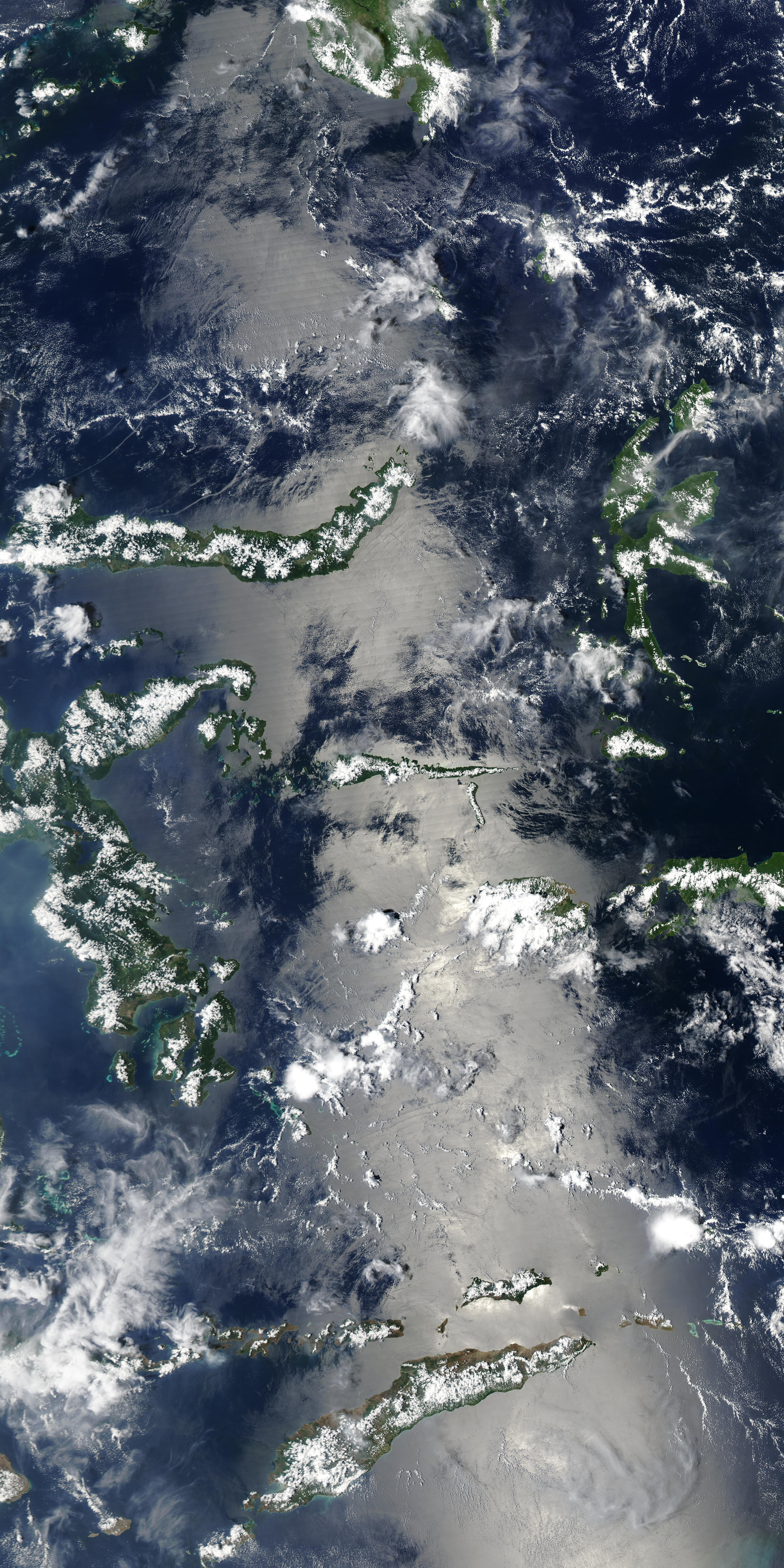 Olas internas en el Mar de Célebes y Mar de Bandas