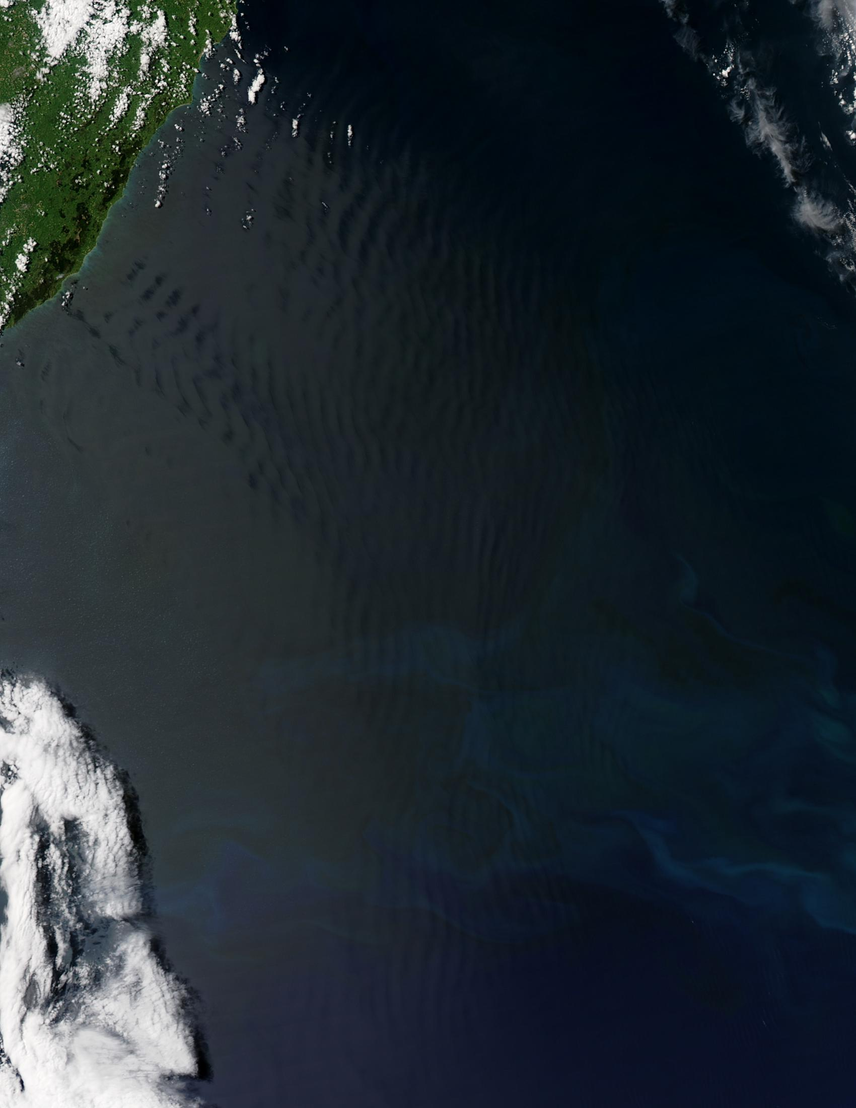 Ondas de gravedad atmosféricas cerca Nueva Zelanda
