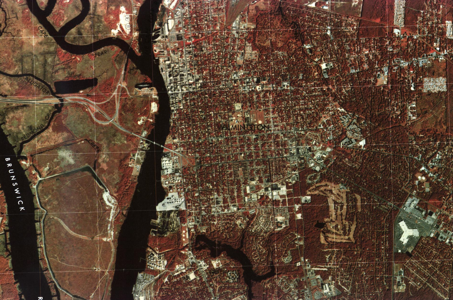 Wilmington City Orthophoto, North Carolina, United States