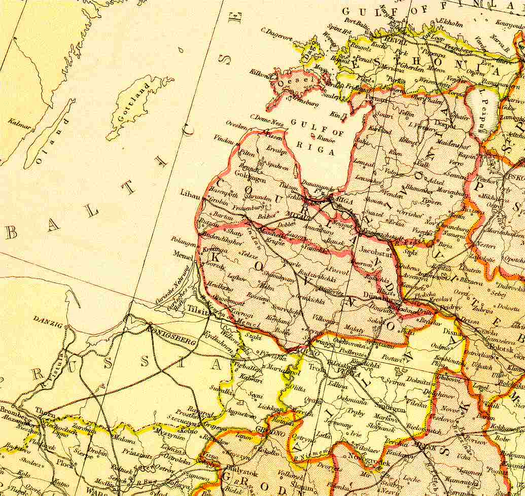 Baltic States in 1882