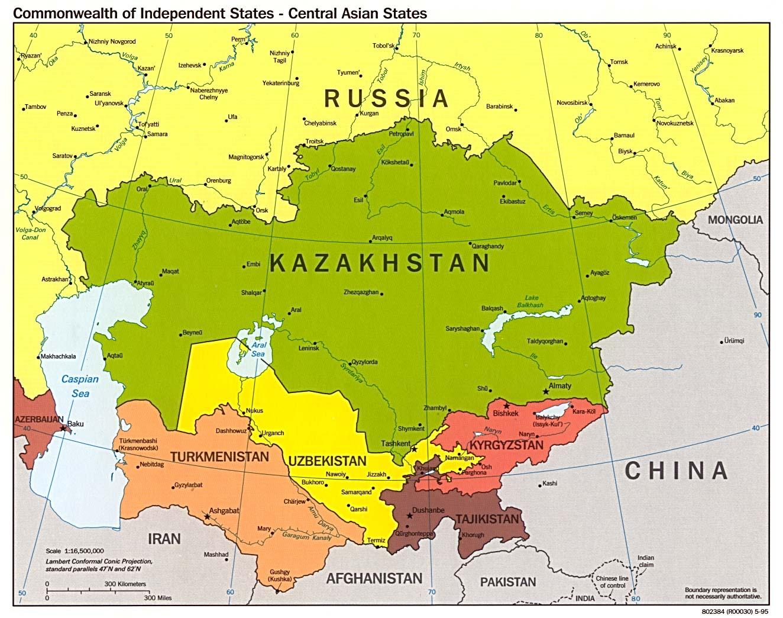 Países de Asia Central, Comunidad de Estados Independientes