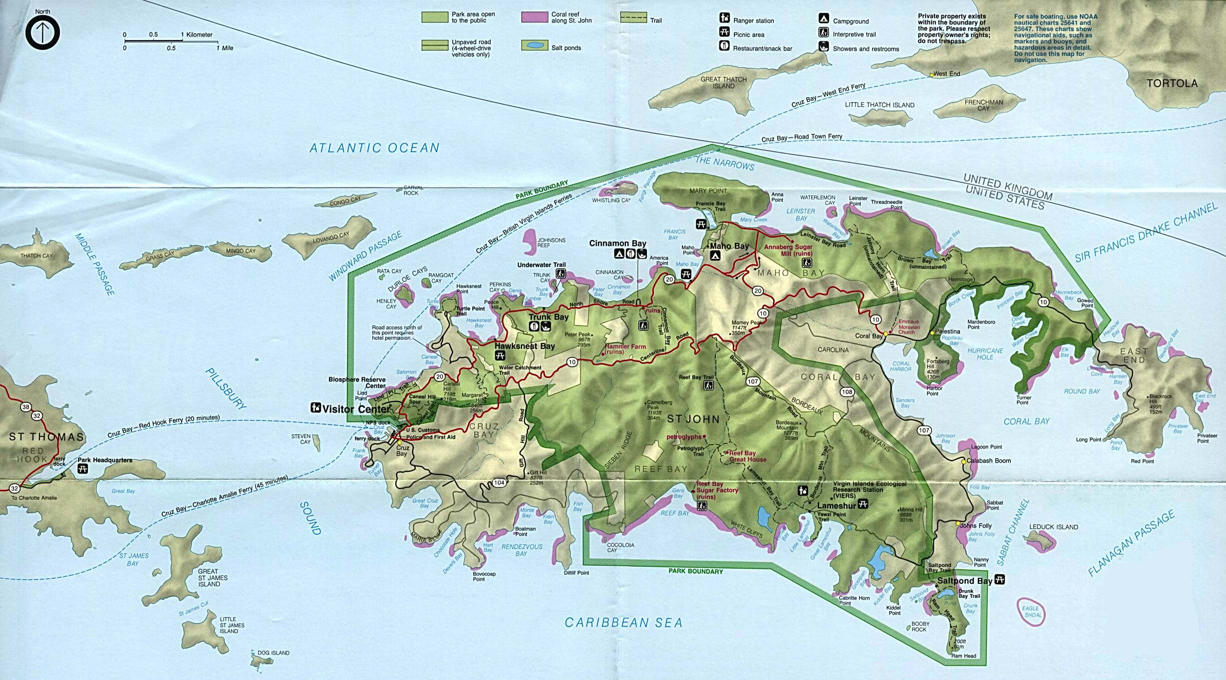 Virgin Islands National Park (Park Map)