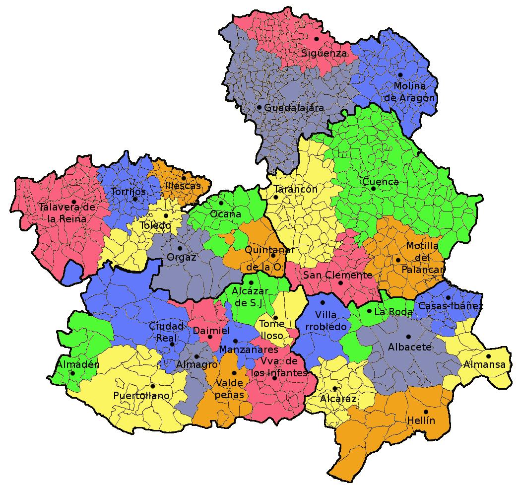 Castilla-La Mancha judicial districts