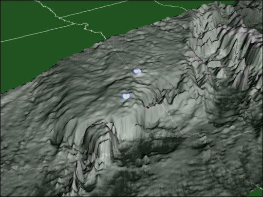 Patrón de alcance de los rayos encima de Oklahoma