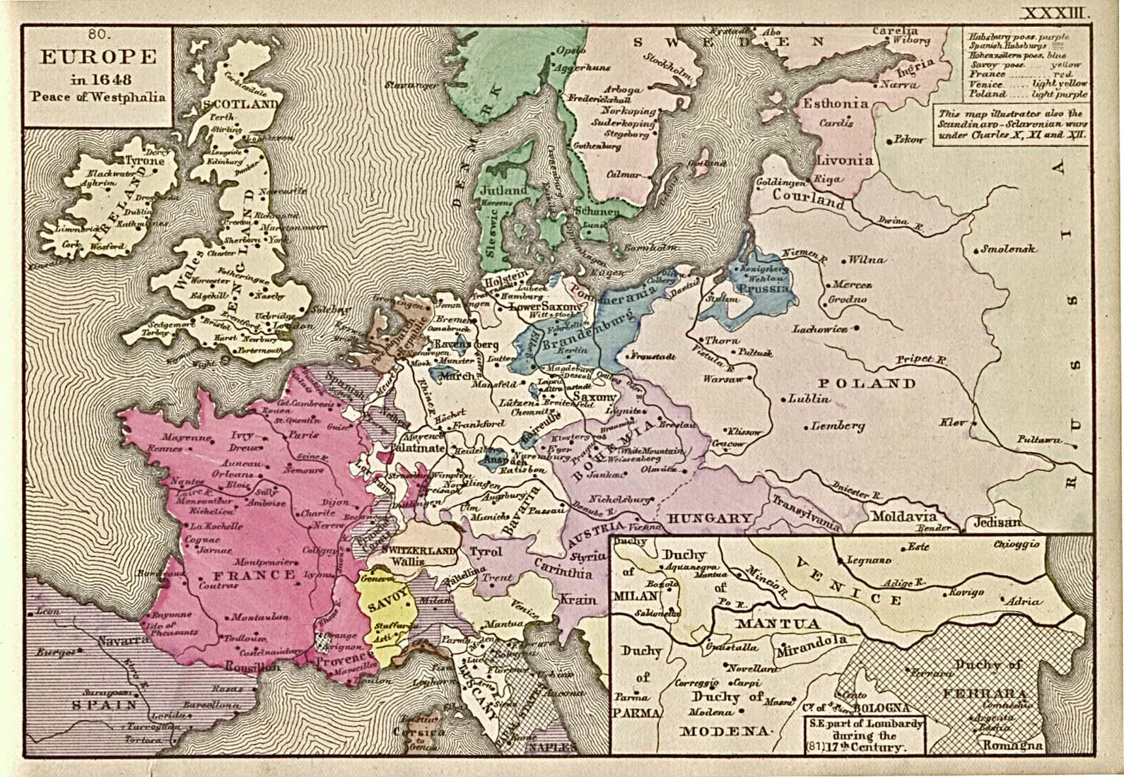 Paz de Westfalia, Europa en 1648